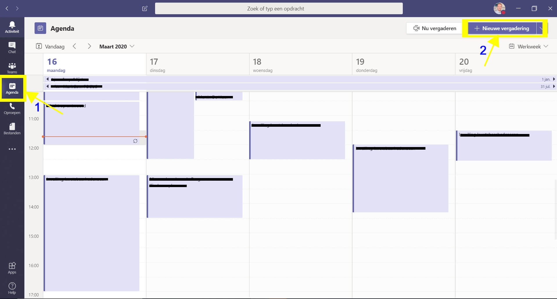 Microsoft Teams - agenda