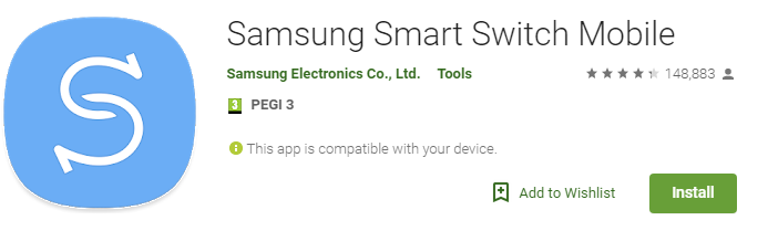 Samsung Smart Switch mobile Android