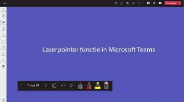Laserpointerfunctie in Microsoft Teams 1