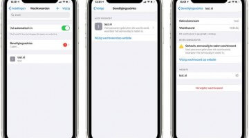 Apple toont de veiligheid van jouw wachtwoorden