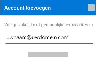 E mail instellen in de app Outlook voor Android 1