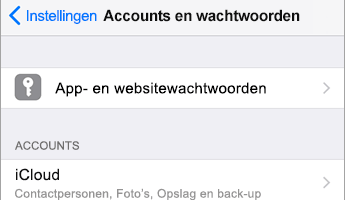 Office 365 account toevoegen in iOS