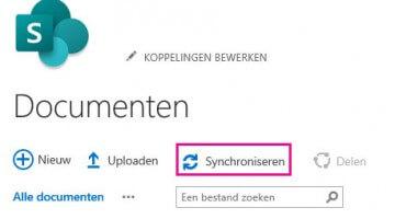 SharePoint synchronisatie