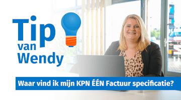 Tip van Wendy Groenheide KPN EEN factuur specificatie uit MijnKPN insight thumb