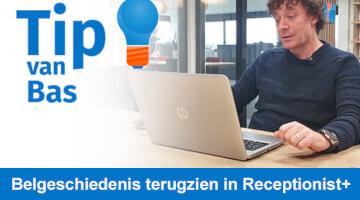 Tip van Bas Peperkoorn Belgeschiedenis in Receptionist plus thumb klein