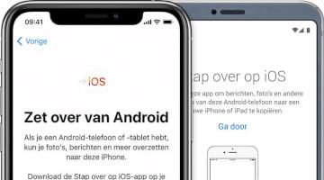 overschakelen van android naar iOS