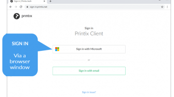 sign in Printix client
