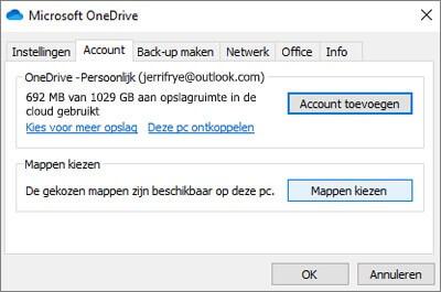 OneDrive aanmelden Account toevoegen