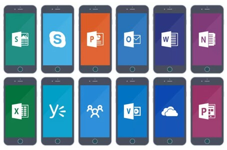 Office apps op mobiel device