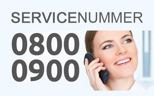 Servicenummers 0800 0900