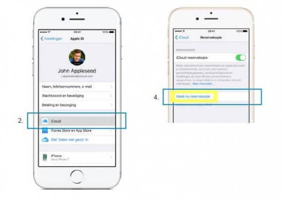 iPhone gegevens overzetten via iCloud