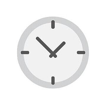 Klok tijdbesparend