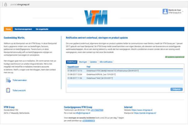 VTM Klantportal