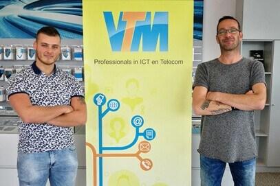 Daan Poleij en Dax Verolme VTM Groep ICT Telecom kl