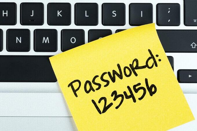 Makkelijk wachtwoord